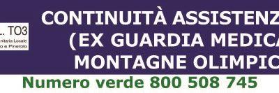 Continuità Assistenziale (ex Guardia Medica) Montagne Olimpiche – Estate 2019