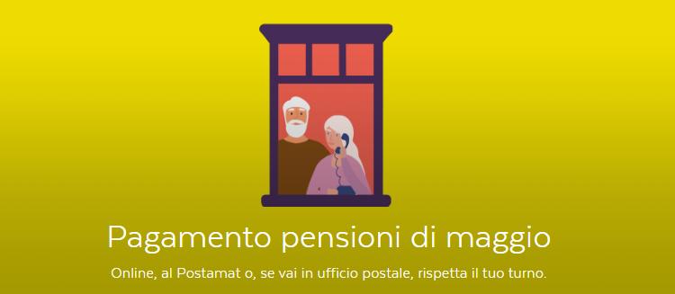 PAGAMENTO PENSIONI MAGGIO POSTE ITALIANE