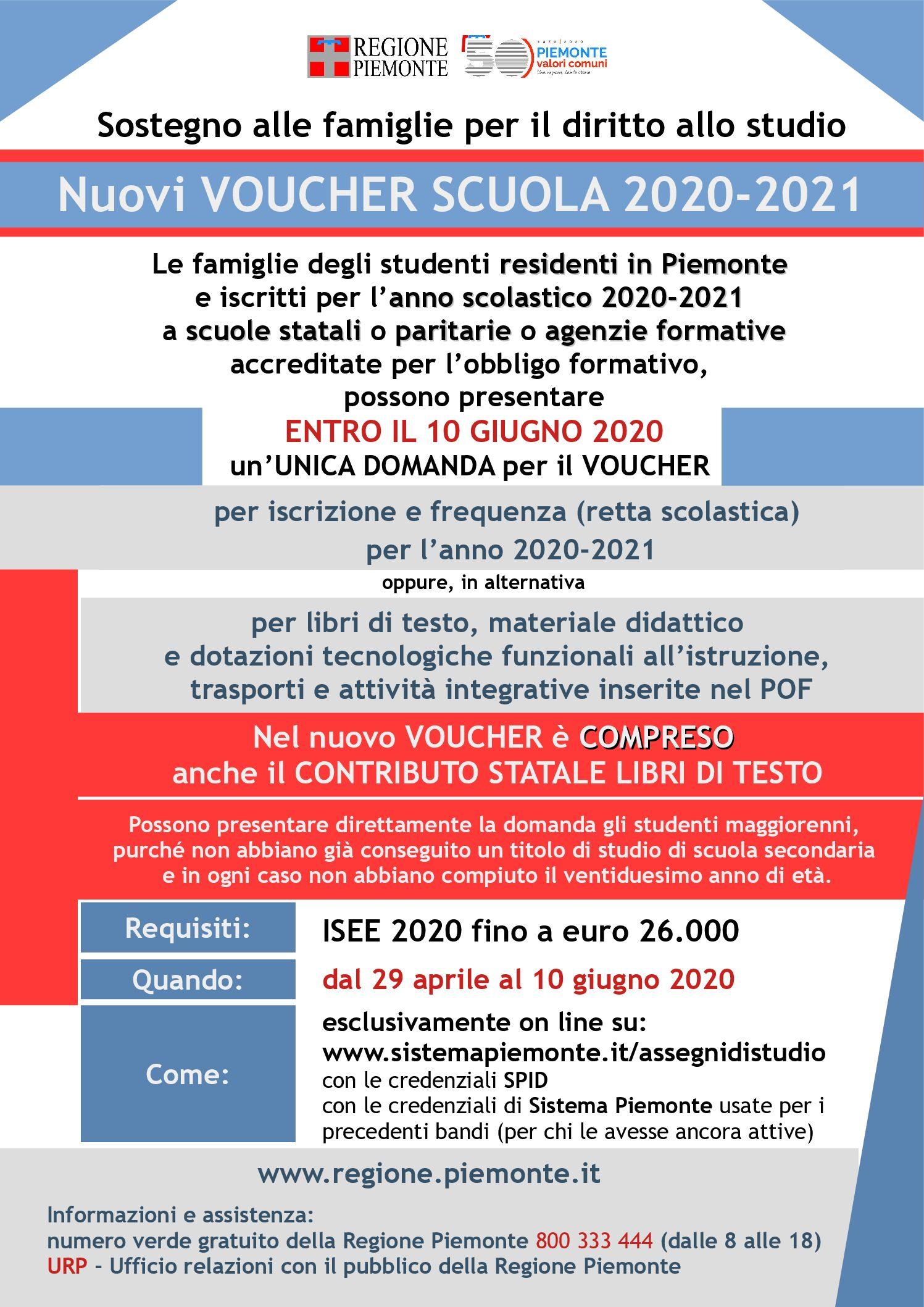 VOUCHER SCUOLA 2020-2021