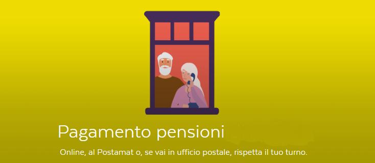 PAGAMENTO PENSIONI DEL MESE DI GIUGNO 2020