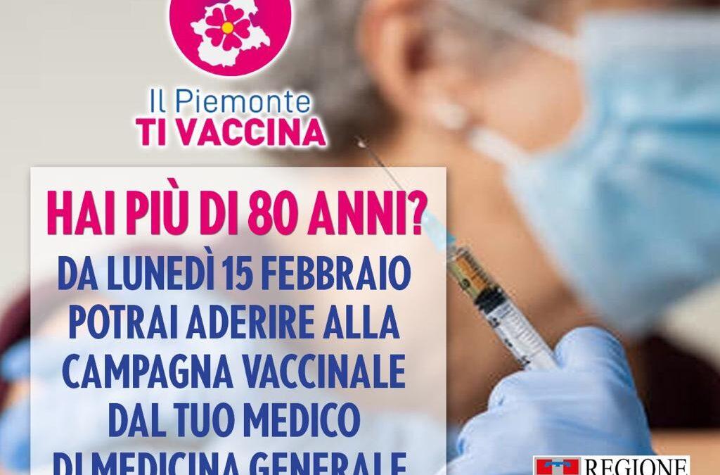 OVER 80: DA LUNEDI' E' POSSIBILE SEGNALARE AL PROPRIO MEDICO DI FAMIGLIA LA VOLONTA' DI VACCINARSI.