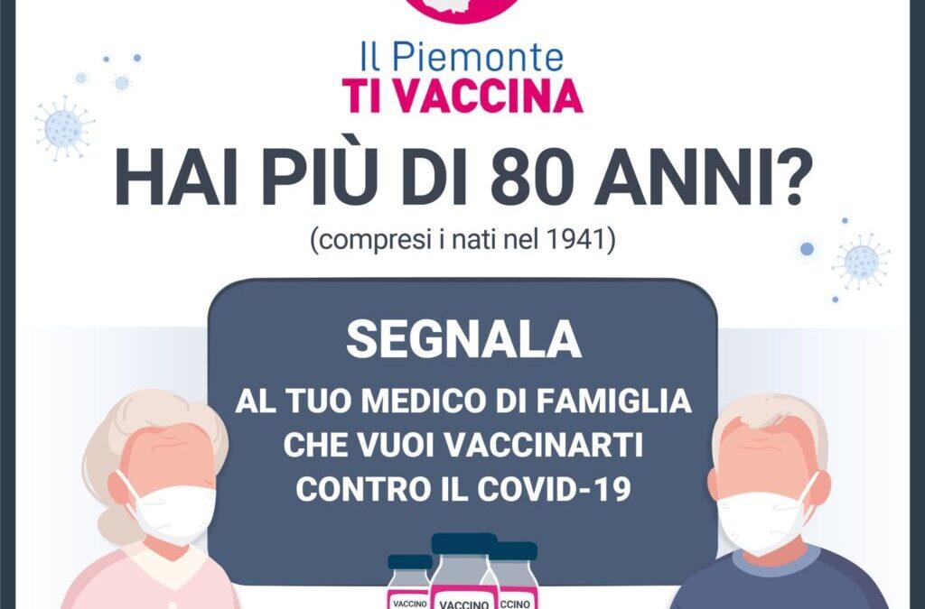 COMUNICATO STAMPA A.S.L. TO3 – VACCINAZIONI ANTI-COVID PER OVER 80
